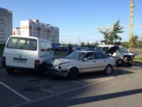 В Минске водитель сбил пешехода и врезался в два авто