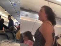Вселился демон: появилось видео дебоша американской ветеранши в самолете